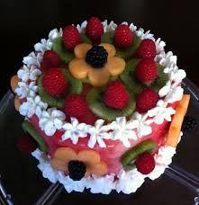 Resultado de imagen para fruit cake decoration