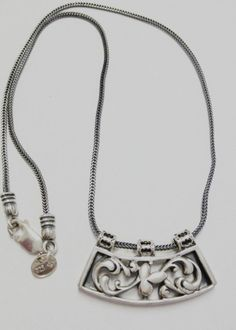 SILPADA Sterling Silver Floral Filigree Scroll Necklace N1472