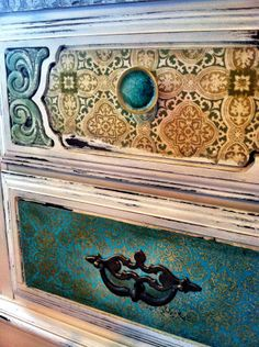 Greenlightrevivals.com #furniture #home #decor #anthropologie - you could use some of those beautiful photo-book papers to decoupage this
