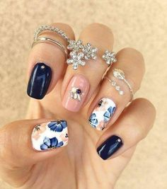 you should stay updated with latest nail art designs, nail colors, acrylic nails. New Nail Designs, Different Nail Designs, Nail Designs Spring, Acrylic Nail Designs, Acrylic Nails, Nail Art Toes, Pedicure Designs, Matte Nails, Glitter Nails