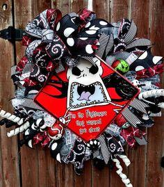 Christmas Deco, Christmas Wreaths, Wreath Making Supplies, Oogie Boogie, Hand Painted Ornaments, Trendy Tree, Deco Mesh Wreaths, Jack Skellington, Holidays Halloween