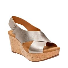 3b5f1a60e8e Caslynn Shae Gold Metallic Leather womens-wedges Metallic Leather