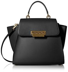 ZAC Zac Posen Women's Eartha Iconic Top-Handle Bag in Black - http://handbags.kindle-free-books.com/zac-zac-posen-womens-eartha-iconic-top-handle-bag-in-black/