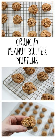Crunchy Peanut Butter Muffins are filled with smooth peanut butter and topped with a streusel-like oatmeal topping that gives the muffins a little crunch! Perfect for a breakfast on-the-go or after-school snack!