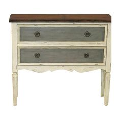 Showcasing a sleek silhouette and 2 drawers, this eye-catching chest is a perfect addition to your living room or den.     Product: ...