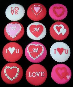 Valentine Cupcakes by Inspired by Michelle Cake Designs