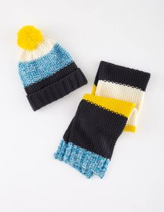 Knitted Hat & Scarf Set 28124 Hats, Scarves & Gloves at Boden