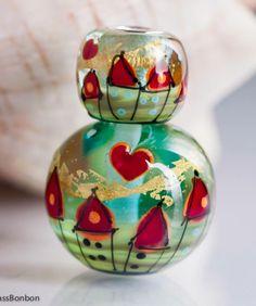 Lampwork beads by GlassBonBon