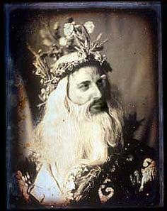 Junius Wallingford as Caractacus the Druid    From The Mystery of the Grove or The Druid's Curse  by Cecilia Beall Norbeck    Quarter-plate daguerreotype c.1858,
