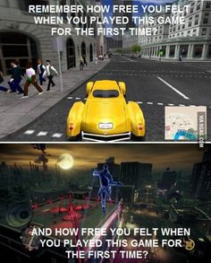 Gameplay freedom then and now.