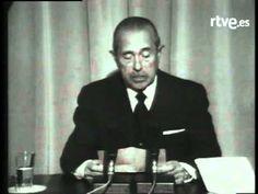 Carlos Arias Navarro, entonces presidente del Gobierno, anuncia el 20 de noviembre de 1975 a todos los españoles la muerte del Generalísimo Franco.