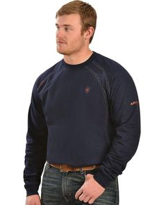 13390fe49 Extra Off Coupon So Cheap Ariat Men s Flame Resistant Workwear Crew Long  Sleeve T-Shirt Big And Tall -