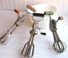 Vintage Hand Mixers, I remember baking with my grandmother.