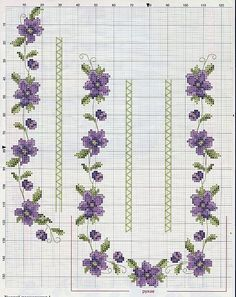 This Pin was discovered by Neş Just Cross Stitch, Cross Stitch Borders, Cross Stitch Flowers, Cross Stitch Charts, Cross Stitch Designs, Cross Stitching, Cross Stitch Embroidery, Cross Stitch Patterns, Beading Patterns