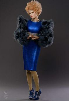 Effie Trinket in her Victory Tour couture. #thehungergames #catchingfire
