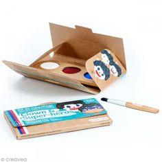 Kit de maquillaje bio Payaso y superhéroes  - 3 colores - Fotografía n°2