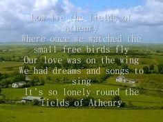 The Fields of Athenry (  lyrics ); Lá fhéile Pádraig sona dhuit! Happy St Patrick's Day everyone!
