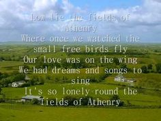 The Fields of Athenry (  lyrics ). From the dubliners ... In memory of irish fans euro 2012.