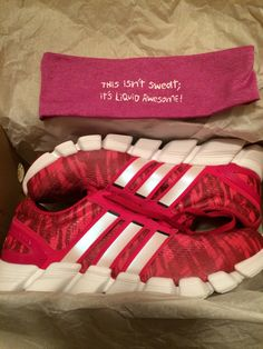new product e7e52 25ed0 Adidas shoes and One More Mile headband. Running Equipment, 5 Pounds
