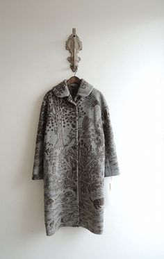 mina perhonen - upcycle inspiration - drawing on wool coats