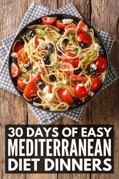 Easy Mediterranean Diet Recipes, Mediterranean Dishes, What Is Mediterranean Diet, Med Diet, Diet Meal Plans To Lose Weight, Dash Diet Meal Plan, Weight Loss Meals, Diet And Nutrition, Meal Planning