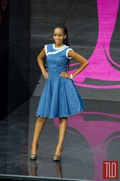 I think Miss Botswana is wearing Shweshwe!! Miss Universe 2013 National Costumes – Part 2 | Tom & Lorenzo Fabulous & Opinionated
