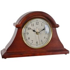 Features:  -Walnut wood.  -Requires 1 AA battery - Not included.  -One year warranty.  Product Type: -Mantel.  Time Display: -Analog.  Finish: -Walnut.  Wood/Wood Base: -Yes.  -Tick: Yes. Generic Spec