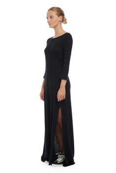 THE LONG SLIT DRESS   Solid & Striped