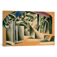 iCanvas Stage design for William Shakespeare's play 'Romeo and Juliet', 1920 Gallery Wrapped Canvas Art Print by Lyubov Popova