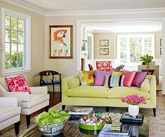 Bursts of Color -- lots of pop but still with a restful, relaxed quality