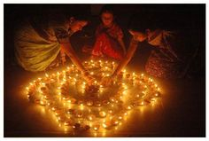 Diwali Celebrations Women light earthen lamps on the eve of Diwali, in Agartala. Diwali is celebrated for five consecutive days in the Hindu month of Ashwayuja.