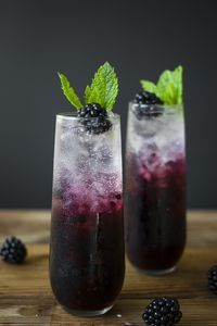Blackberry, Mint, & Cucumber Gin Spritzer  | There are so many summery drinks for you to choose from, so find one that tickles your fancy, make it, and enjoy each sip while you enjoy a warm and pleasant evening.