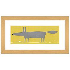 Buy Mr Fox Framed Print, 43 x 23cm Online at johnlewis.com