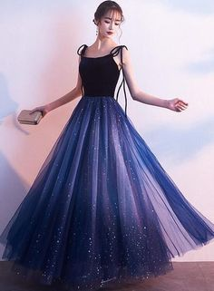 Blue Tulle with Velvet Straps Long Party Dress, Gorgeous Formal Gown 2 – BeMyB., - Blue Tulle with Velvet Straps Long Party Dress, Gorgeous Formal Gown 2 – BeMyB…, Source by - Pretty Prom Dresses, Prom Dresses Blue, Elegant Dresses, Women's Dresses, Cute Dresses, Beautiful Dresses, Dress Outfits, Long Party Dresses, Blue Party Dress