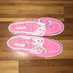 Pink sperry topsiders Pink sperrys, worn once, excellent condition!!!!, smoke free home, very nice & comfortable Sperry Top-Sider Shoes Sneakers