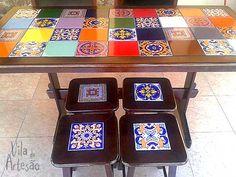 Dica pra restaurar móveis usados com azulejos.  #facavocemesmo #diy #moveis #mesa #decor