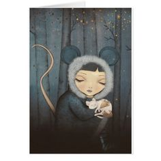 The Little Mouse Princess Grußkarte