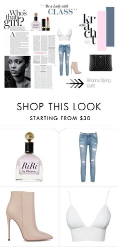 """""""Rihanna´s Spring Outfit"""" by garufawatson ❤ liked on Polyvore featuring Current/Elliott, Akira Black Label, Club L, Dolce&Gabbana and Chanel"""