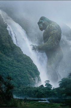 King Kong Skull Island, King Kong Vs Godzilla, All Godzilla Monsters, Godzilla Wallpaper, Sci Fi Horror, Prehistoric Animals, Monster Art, Mythical Creatures, Cool Pictures