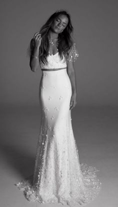 Featured Dress: Rime Arodaky; Wedding dress idea.