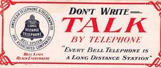 Long Distance American Telephone & Telegraph Bell System advertising blotter
