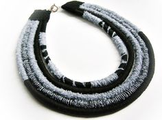 Masai jewelry. African yarn-wrapped necklace. by NickyNecklaces