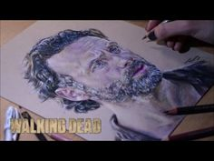 Drawing Rick Grimes (Andrew Lincoln)   The Walking Dead - YouTube