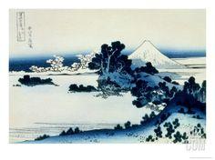 36 Views of Mount Fuji, no. 13: Shichiri Beach in Sagami Province Giclee Print by Katsushika Hokusai at Art.com