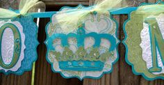 Miss to Mrs Banner with Crowns by APinkNest on Etsy, $27.00 - Emailed shop owner to ask if she makes this in different colors (navy, golden yellow, white).