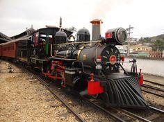Steam engine train near Tiradentes MG.