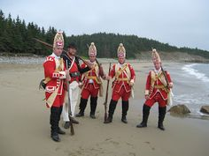 40th Foot and Royal Navy sailor at Kennington Cove.The amphibious assualt by the British in June 1758 on the shores of Isle Royale began the siege of the Fortress of Louisbourg.