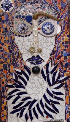 Mosaic Wall Art, Mosaic Tiles, Indoor Orchids, Mosaic Portrait, Mosaic Pictures, Mosaic Madness, Shape And Form, Totems, Face Art