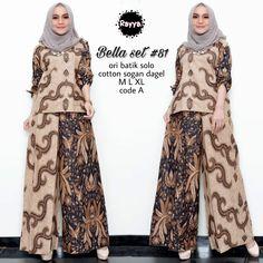 Y27 @190rb Hijab Fashion, Fashion Dresses, Women's Fashion, Sewing Ideas, Sewing Patterns, Batik Solo, Batik Dress, Fashion Sewing, Muslim