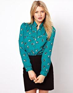 Enlarge Oasis Shirt with Bird Print